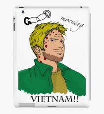 Lucifer Balck On White - Good Moring Vietnam iPad Case/Skin