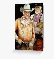 """Gus And Woodrow"" Greeting Card"