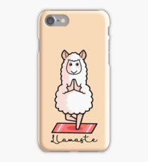 Llamaste - Yoga Llama iPhone Case/Skin