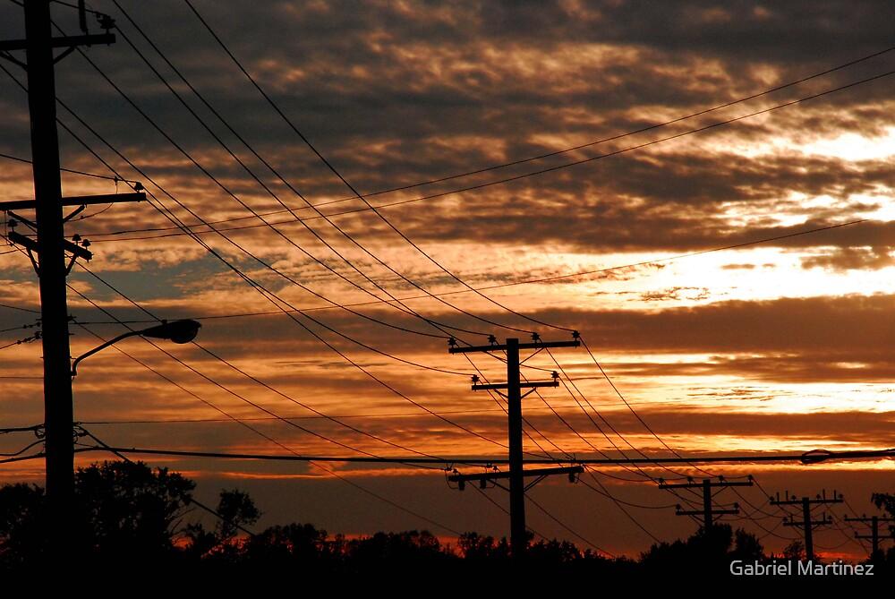 Telephone Sunset by Gabriel Martinez
