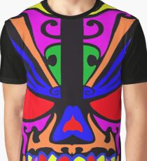 Skull in color Graphic T-Shirt