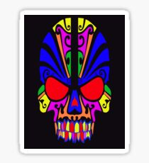 Skull in color Sticker