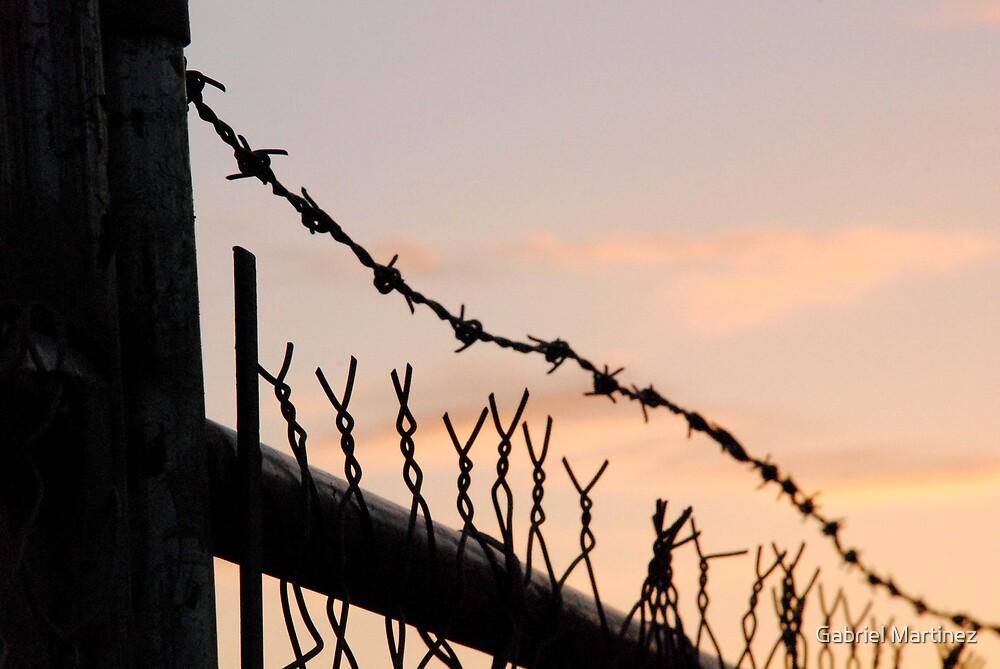Barbed Wire Sunset by Gabriel Martinez