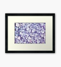 Sea salt for beauty treatment with lavender aroma Framed Print