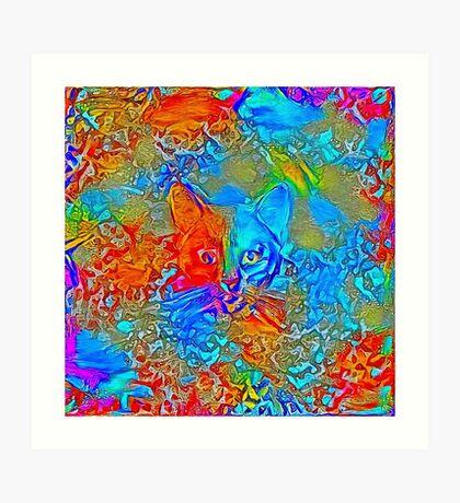 Hiding in colors Art Print