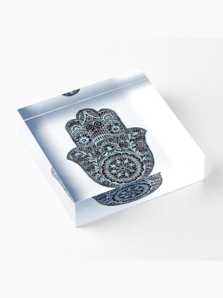 Alternate view of Hamsa Hand Acrylic Block