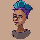 Mädchen mit hellen Haaren | einfarbiges Backgroung von Ekaterina Kalmykova