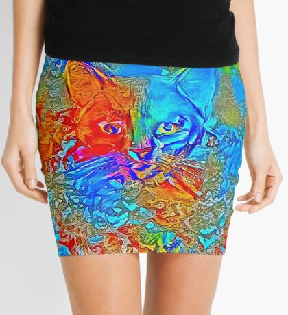 Hiding in colors Mini Skirt