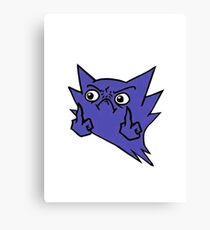 Haunter Finger Meme Canvas Print