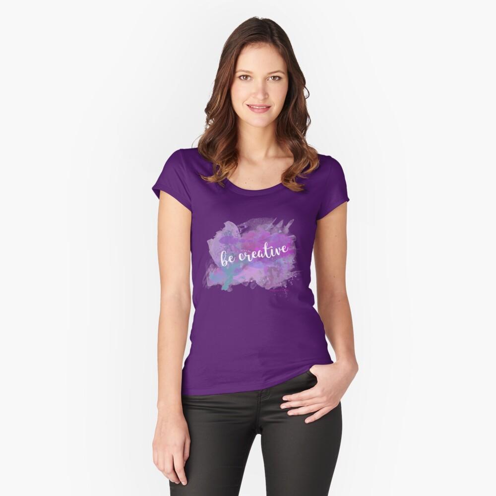 Be creative Camiseta entallada de cuello redondo