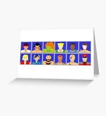 Select Your Character - Street Fighter 2 Champion Edition Greeting Card