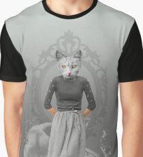 Cat Girl Pepe Psyche Graphic T-Shirt