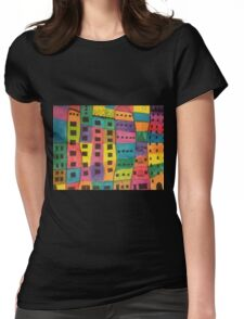 Skyscrapers Womens Fitted T-Shirt