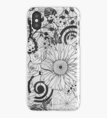Flowers and butterflies iPhone Case/Skin