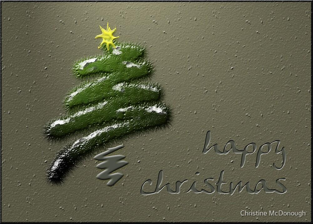 happy christmas tree by Christine McDonough