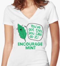 Encourage mint – you've got this Women's Fitted V-Neck T-Shirt