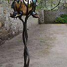 BIRD FEEDER (in Bronze)   -   CAWDOR CASTLE  Scotland by Leslie-Ann