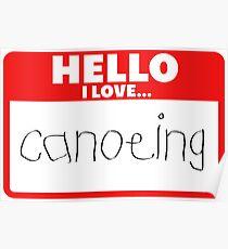 Canoe canoeing Poster