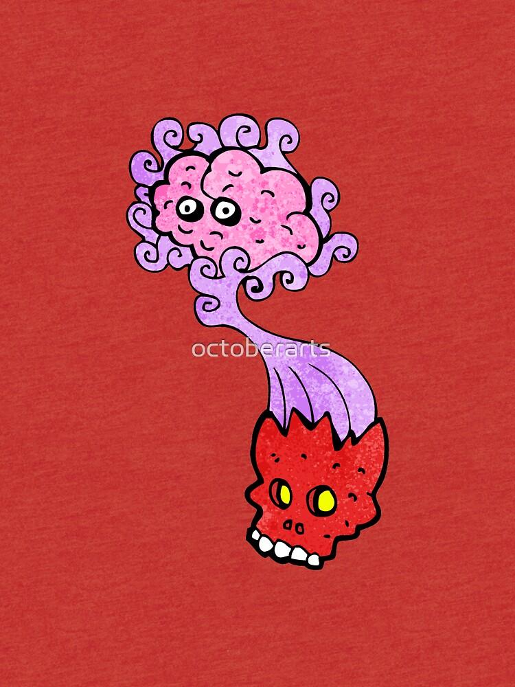 cartoon haunted skull by octoberarts
