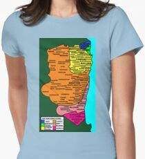 Northern Rivers NSW Map T-Shirt