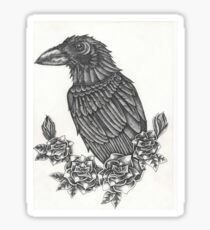Crow and Roses Sticker