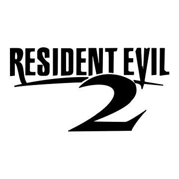 Resident Evil 2 Logo, Black by 411drpkv4c
