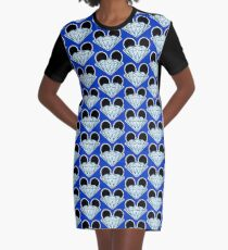 Diamond Ears Color Graphic T-Shirt Dress