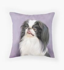 Japanese Chin Nobility Throw Pillow