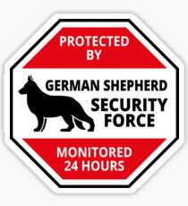 German Shepard Security - DETER BURGLARS Sticker