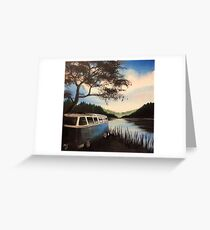 Escape Campervan Painting Greeting Card