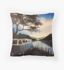 Escape Campervan Painting Throw Pillow