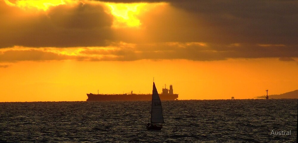 Sunset Over Port Phillip Bay by Austral