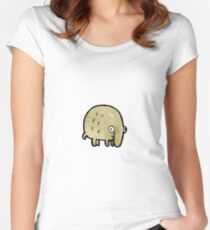 funny little animal cartoon Women's Fitted Scoop T-Shirt