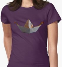 PAPER BOAT WITH DRAKKAR FIGUREHEAD AND STERN AND ITS VIKING - full color T-Shirt