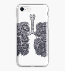 Lungs with peonies iPhone Case/Skin