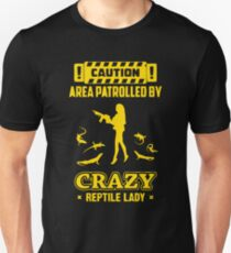 Patrolled By Crazy Reptile Unisex T-Shirt