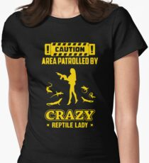 Patrolled By Crazy Reptile Women's Fitted T-Shirt