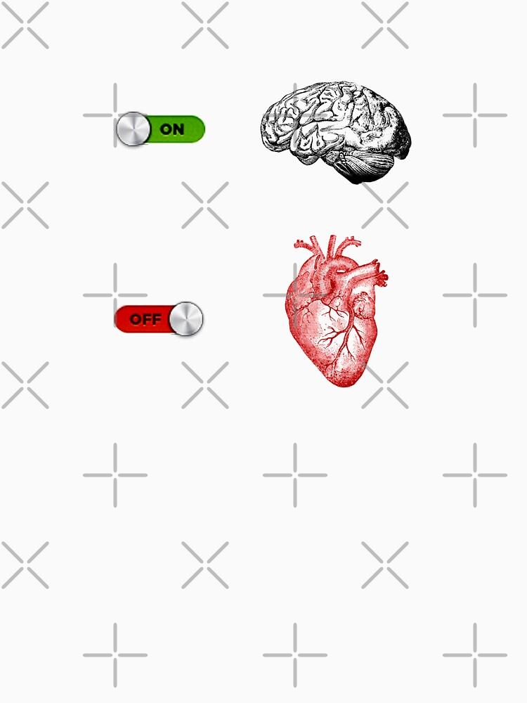 u0026quot brain on heart off u0026quot  unisex t