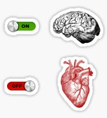 Brain On Heart Off Sticker
