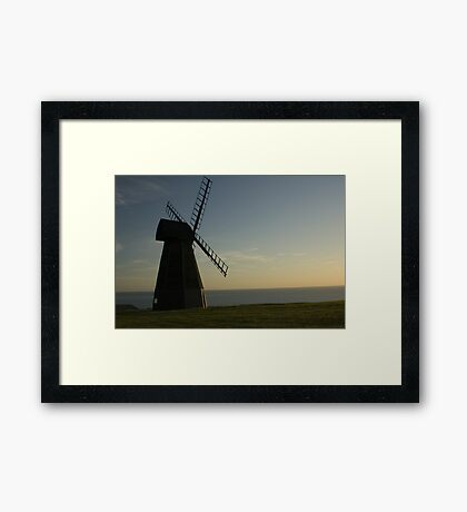 Windmill tranqillity Framed Print