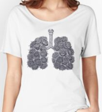 Lungs with peonies Women's Relaxed Fit T-Shirt