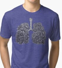 Lungs with peonies Tri-blend T-Shirt