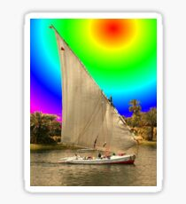 Sailing into Ancient Egypt Sticker