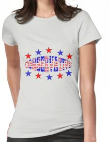 Red White Blue Patriotic Conservative Womens Fitted T-Shirt