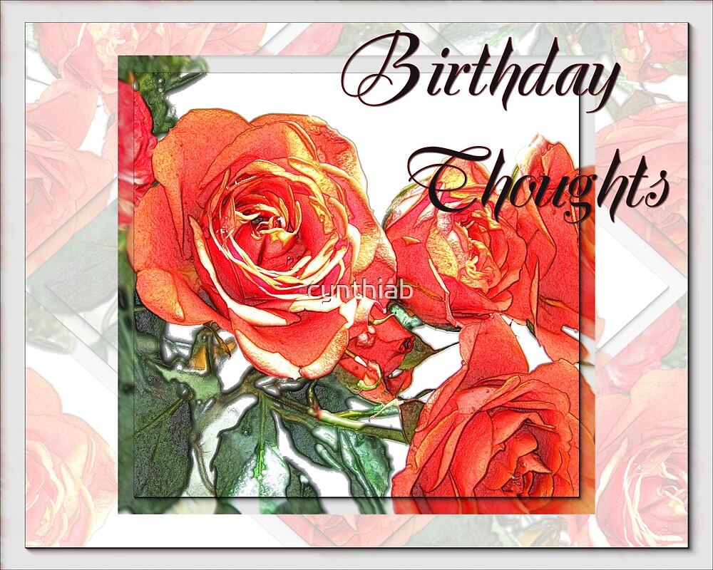 birthday thoughts by cynthiab