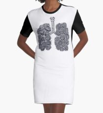 Lungs with peonies T-Shirt Kleid