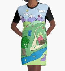 Monster Valley Graphic T-Shirt Dress