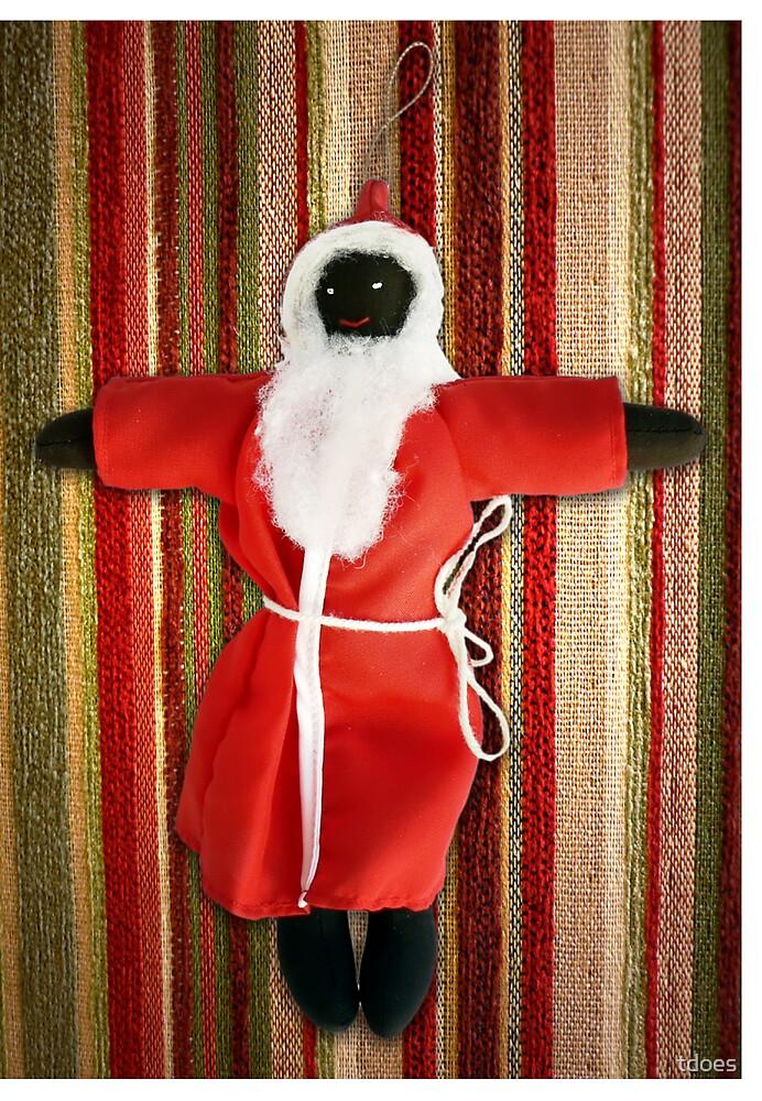 Black Santa greeting card by tdoes