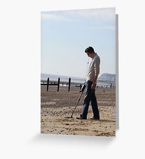 Onlookers were delighted at Dave's new Inspector gadget metal detecting Third leg....Much fun was always had with his third leg on quiet evenings in. Greeting Card