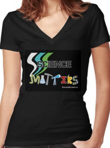 Science Matters Women's Fitted V-Neck T-Shirt